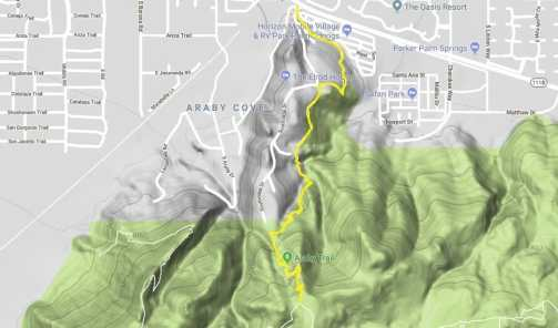 05 Araby Trail topo map