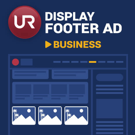 Display Business Section Footer Ads