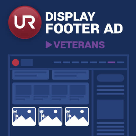 Display Veterans Section Footer Ads
