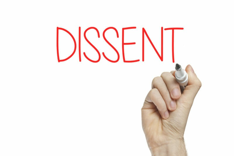 Voice of Dissent Will Not Cave to Public Pressure