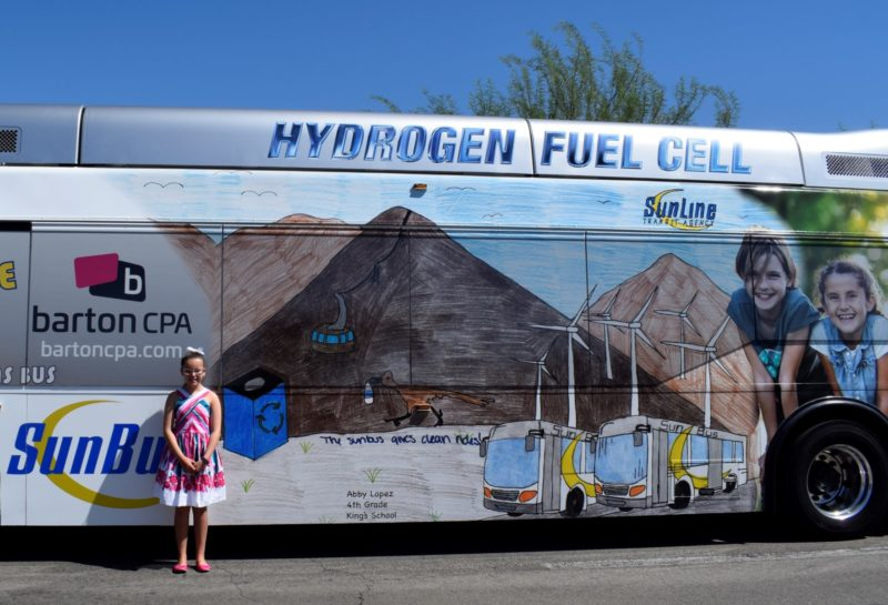 Student Art Wraps SunLine Buses for Fourth Year