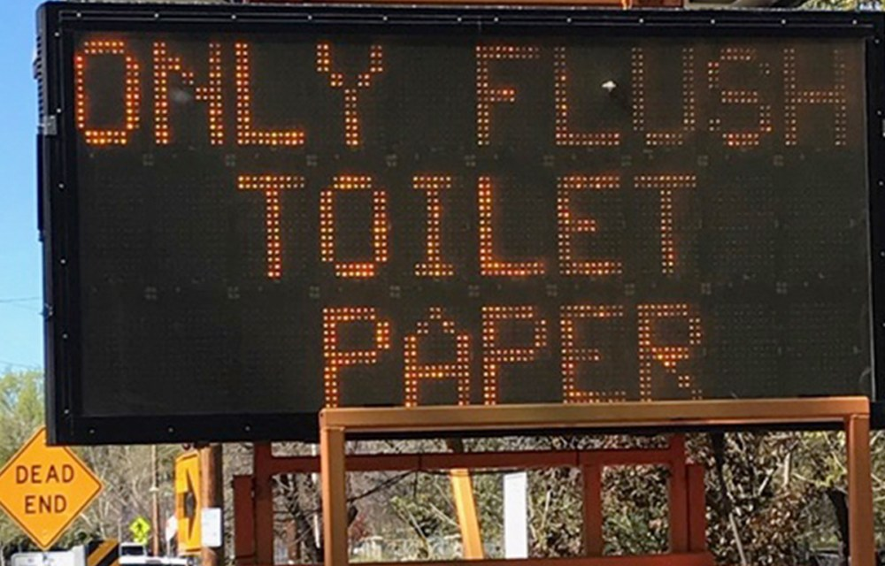 Flush Only 'Pee, Poop and Paper'
