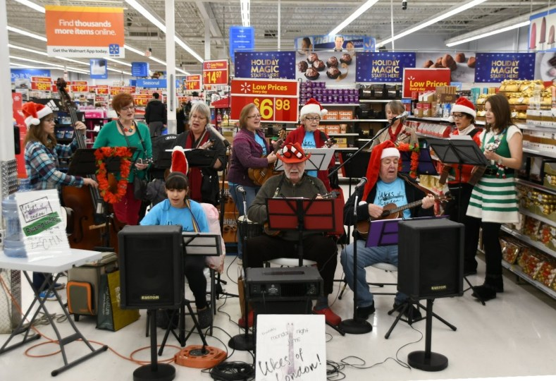 Busking for Children's Miracle Network Hospitals at Walmart London North 2018