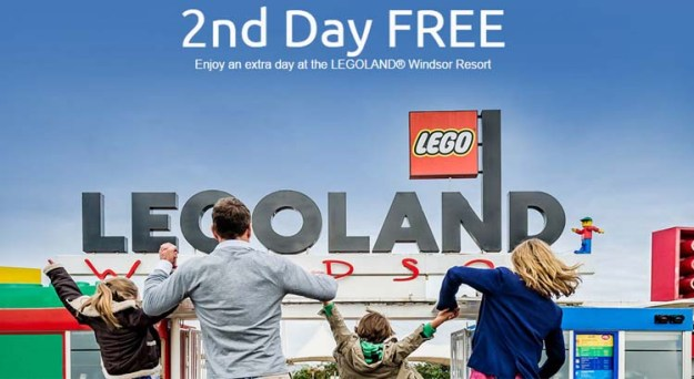 Get your second day free at Legoland