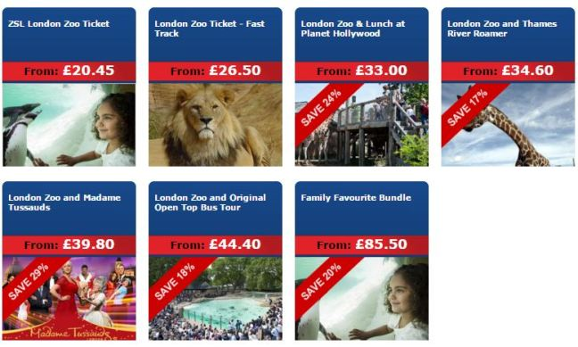 london zoo day trip packages
