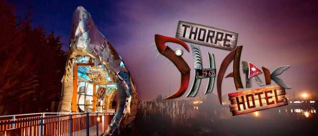 An overnight stay in the THORPE SHARK Hotel or a nearby partner hotel