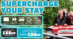 Thorpe Park Breaks from £65pp with Fast Track Entry