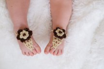 Cute Diy Baby Barefoot Sandals 2015