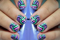 30 Unique Striped Nail Art Designs 2015