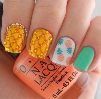 24 Beautiful Pineapple Nail Art Designs 2015