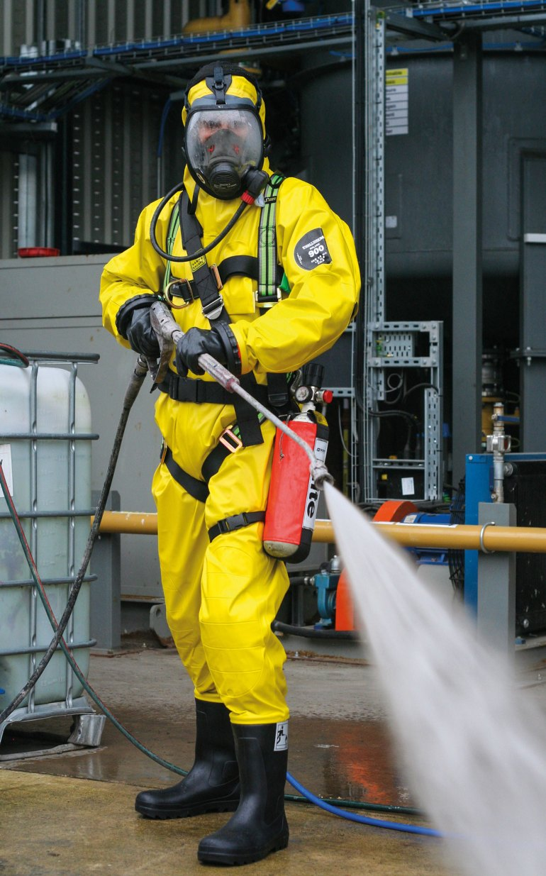 Industrial Cleaning Services in action.
