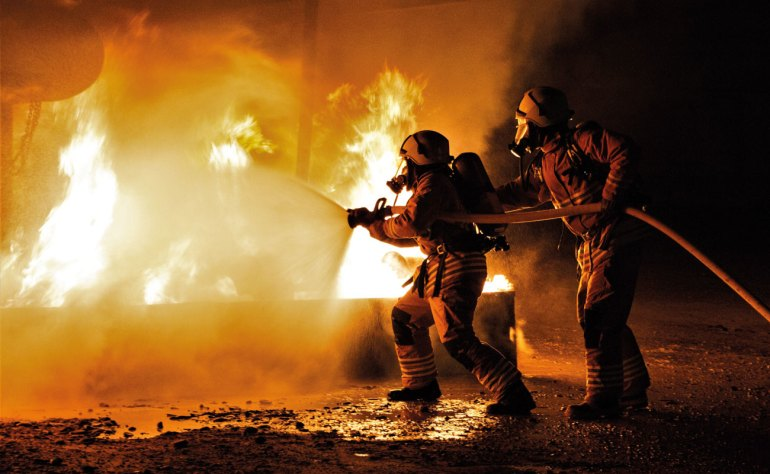 Airport fire services are ready to respond, day or night.