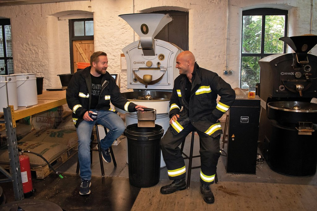 Perfect blend: Matt Broxton (left) and Tom Taylor set up Frontline Coffee to help raise more money for frontline charities.