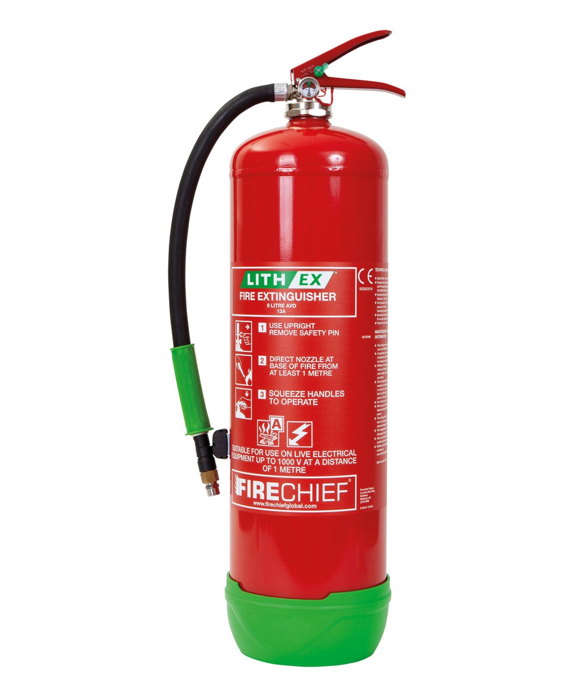 Lithium battery fire extinguishers have capacities up to 9 litres to help tackle some of the larger fires that occur in waste management facilities.