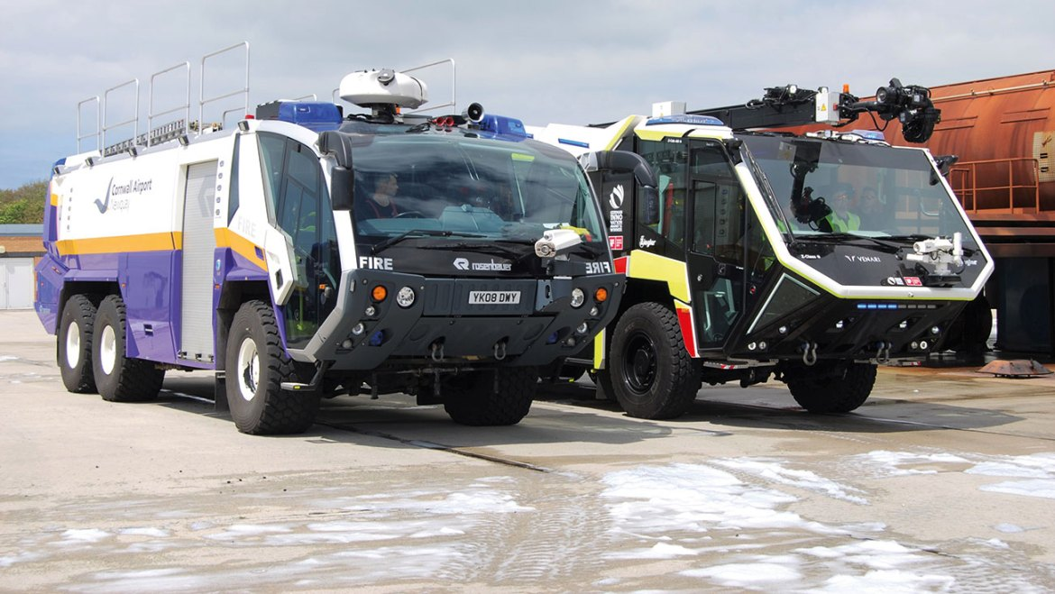 The Z class was operated beside the airport's existing fleet of ARFF vehicles for the period of the G7 summit.