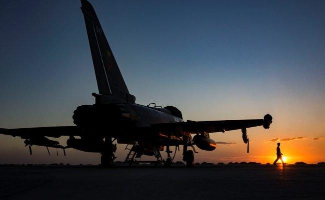RAF Typhoons Arrive in Oman