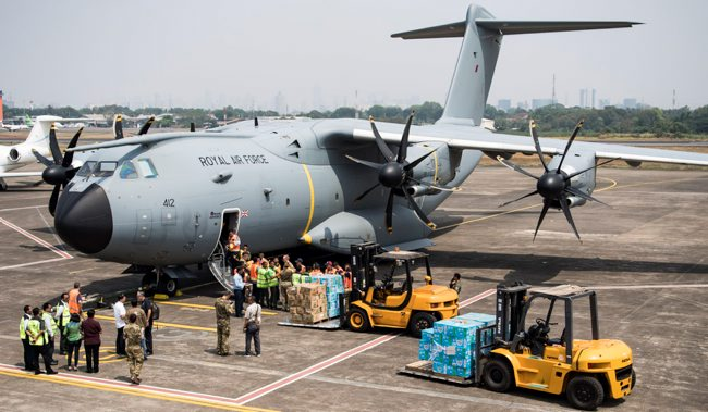 Vital UK Aid Relief Lands in Indonesia