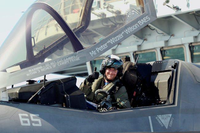F-35b Lightning II Trials onboard HMS Queen Elizabeth