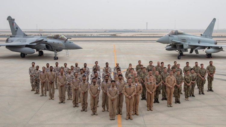 RAF Typhoons in Qatar Footage From Exercise Epic Skies 2