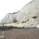 The large rock fall