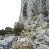 West - plenty of chalk boulders