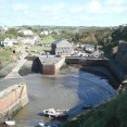 The harbour and the village from the cliff top