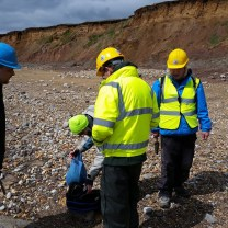 Fossil Collecting at Compton Bay, Isle of Wight.