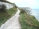 Un-fenced, narrow path