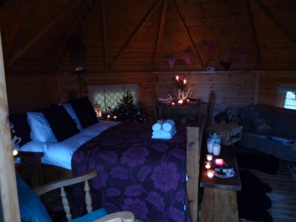 Cosy Bilberry Lodge Christmas