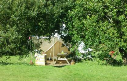 Tent 4 through trees 1
