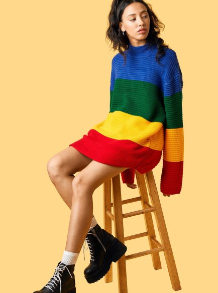 Check out these cute colourblock outfits!