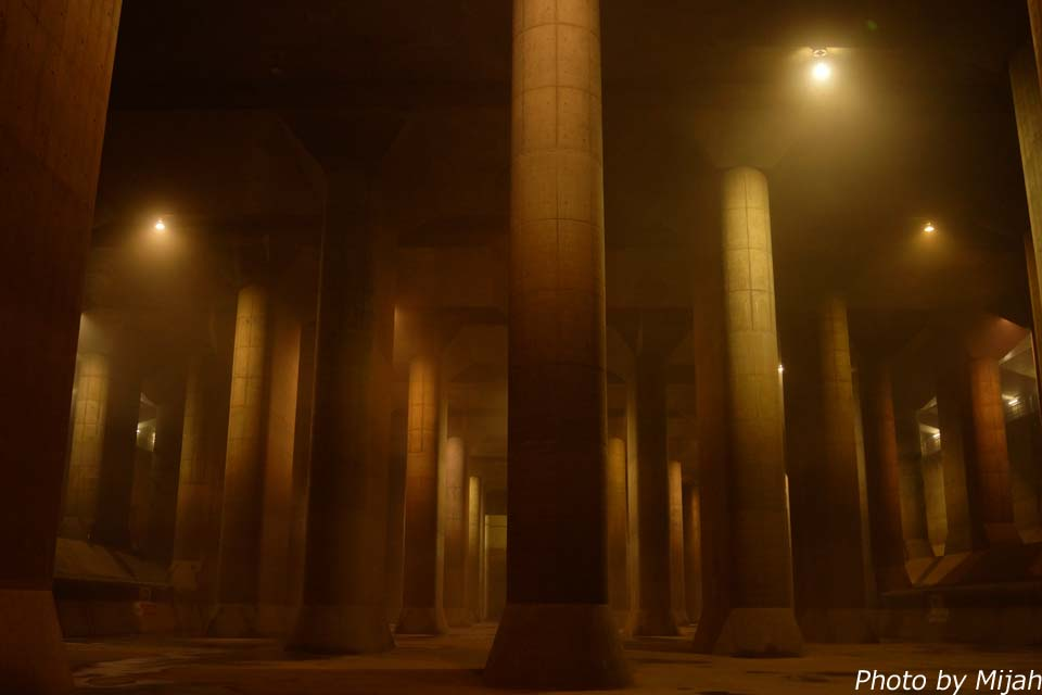 首都圏外郭放水路 ~浸水被害から守る大規模な地下神殿~   うっかり日本旅