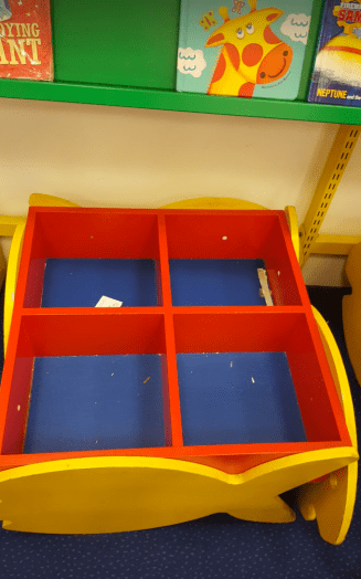 Toddler book box at a library run bycarillion-run by Carillion (CCS)
