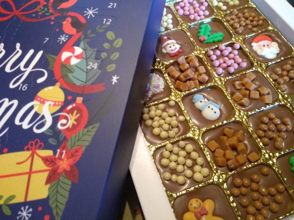 Handmade Belgian Christmas chocolate