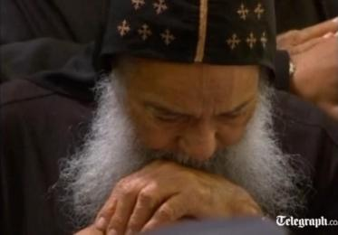 His Grace Bishop Missael at the funeral of His Holiness Pope Shenouda III