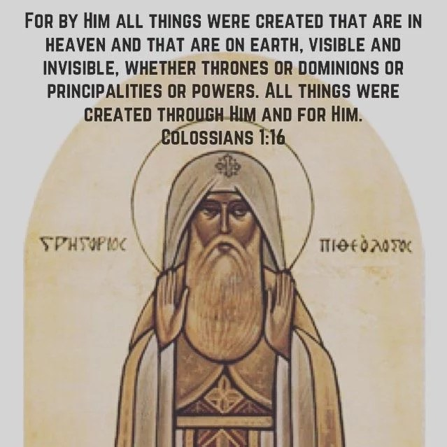 """""""Man is another angel pilgrim overseer of the visible creation partaker of the invisible king over earth."""" - St. Gregory the Theologian #coptic #orthodox #creation #glorify"""