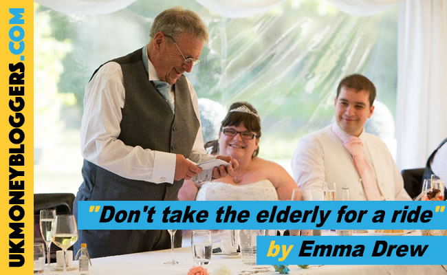 """Emma Drew's Loose Change - """"Don't take the elderly for a ride"""""""