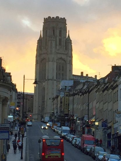 Wills Memorial Building at Dusk