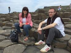 Susan McCleary (Queen's U Belfast) and Andrus Ashoo (Virginia) at Giant's Causeway, Northern Ireland