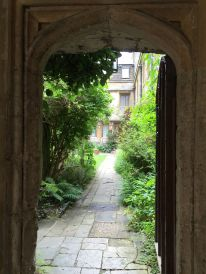 Looking into Corpus Christi College, Oxford