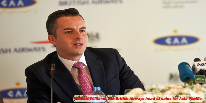 Robert Williams, the British Airways head of sales for Asia Pacific