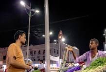 People in Yemen are overjoyed to see street lights