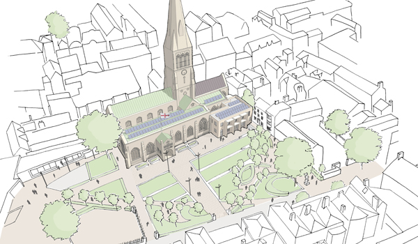 Addressing social needs in zero carbon buildings: Integration with heritage - Leicester Cathedral