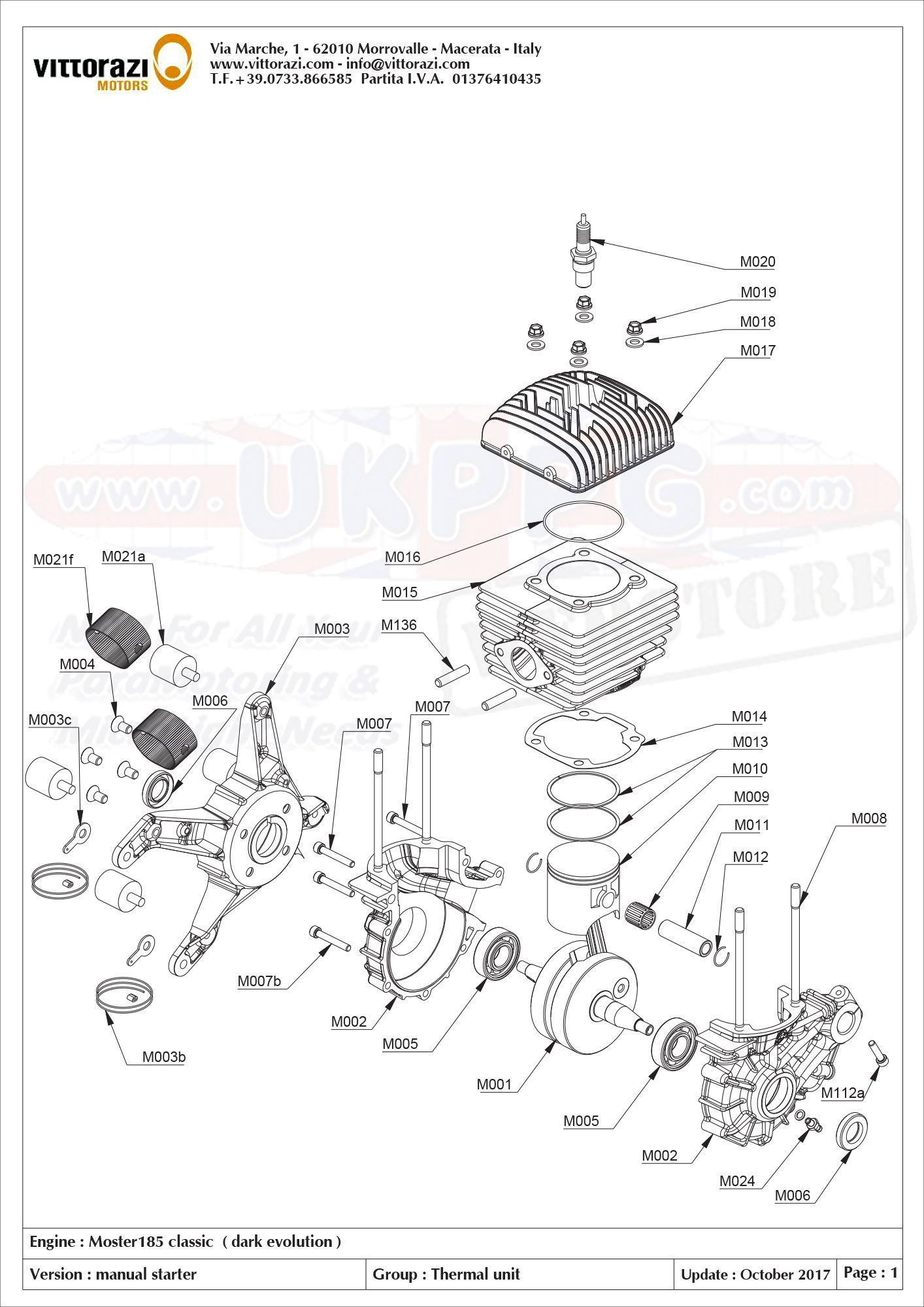 Moster 185 Classic Parts
