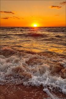 Beautiful Sunset Generals Beaches In Crimea