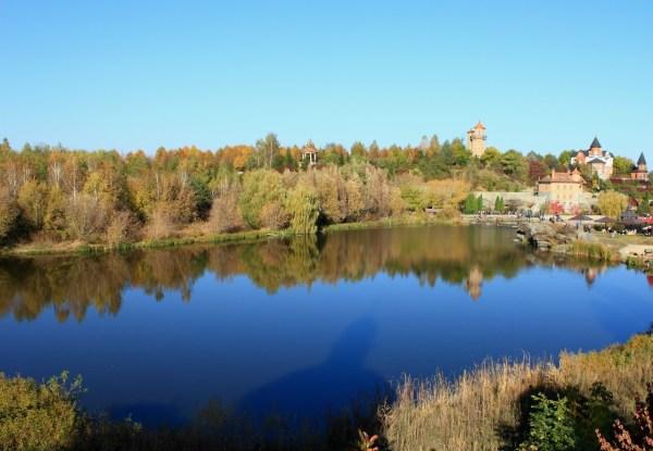 landscape park in village