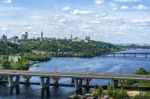 Dnieper River Kiev Bridges
