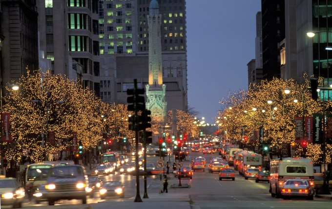 christmas lights in chicago michigan avenue christmaswalls co