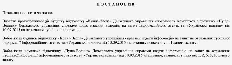 Українські Новини відсудили списки жителів держдач в Конча-Заспі і Пуща-Водиці
