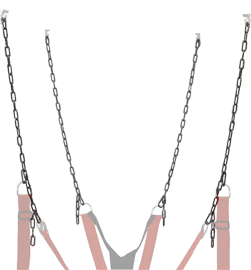 RED Zinc Plated Chain Set